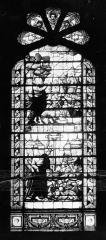 Hôpital - Vitrail de la chapelle  : La Manne. Le Serpent d'airain