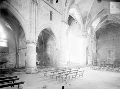 Ancienne abbaye cistercienne - Eglise : Vue intérieure du transept, vers le sud-est