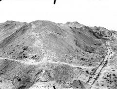 Fort de la Pompelle et ses abords - Partie ouest : Vue perspective vers le sud