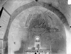 Eglise Notre-Dame - Crypte Saint-Catherine : Peintures murales du choeur (ensemble)
