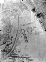Eglise Notre-Dame - Crypte Saint-Catherine - Peintures murales du choeur (partie sud de l'abside) : Trois saintes