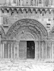 Eglise Saint-Nicolas - Façade ouest : Portail central