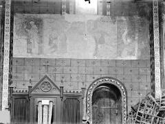 Eglise Saint-Nicolas - Peinture murale du transept sud : La Légende de saint Gilles