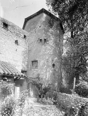 Ancienne abbaye Saint-Philibert - Mur d'enceinte et tour octogonale, côté sud