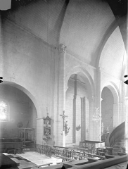 Eglise Notre-Dame - Vue intérieure du choeur et de la nef, vers le nord-ouest