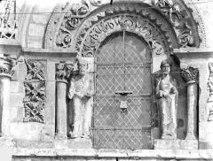 Eglise Saint-Nicolas - Façade ouest : Baie centrale du 1er étage