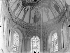 Eglise Sainte-Radegonde - Vue intérieure du choeur : Cul-de-four et fenêtres