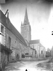 Ancienne abbaye - Eglise - Clocher et abside, côté sud
