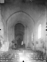Ancienne abbaye - Eglise - Vue intérieure de la nef vers le choeur