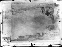 Ancienne église abbatiale - Peinture murale de la nef - Voûte, côté nord : Eve filant (registre supérieur)