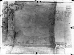 Ancienne église abbatiale - Peinture murale de la nef - Voûte, côté nord (scène effacée du registre supérieur)