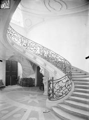 Ancienne abbaye Sainte-Marie-Majeure ou des Prémontrés ou ancien petit séminaire - Grand escalier ovale dans l'aile nord