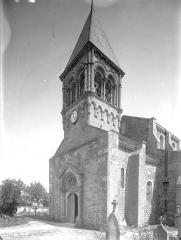 Eglise - Angle sud-ouest : Clocher