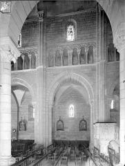 Eglise Saint-Hilaire - Vue intérieure de la nef, côté nord : Travée