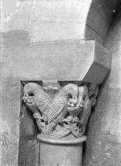 Eglise Saint-Jean de Montierneuf - Chapiteau : Oiseaux