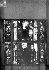 Eglise Saint-Gengoult et son cloître - Vitrail du transept nord, fenêtre B, 1ère lancette à gauche, panneaux inférieurs 1 et 2