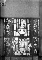 Eglise Saint-Gengoult et son cloître - Vitrail du transept nord, fenêtre B, 1ère lancette à gauche, panneaux au dessus 5 et 6