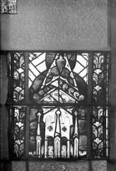Eglise Saint-Gengoult et son cloître - Vitrail du transept nord, fenêtre B, 1ère lancette à gauche, panneaux au dessus 7 et 8