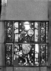 Eglise Saint-Gengoult et son cloître - Vitrail du transept nord, fenêtre B, 2ème lancette à gauche, panneaux au dessus 9, 10