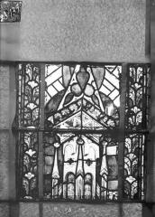 Eglise Saint-Gengoult et son cloître - Vitrail du transept nord, fenêtre B, 2ème lancette à gauche, panneaux au dessus 15, 16