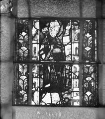 Eglise Saint-Gengoult et son cloître - Vitrail du transept nord, fenêtre B, 3ème lancette, panneaux inférieurs 17, 18