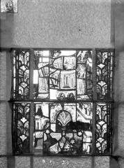 Eglise Saint-Gengoult et son cloître - Vitrail du transept nord, fenêtre B, 3ème lancette, panneaux  au dessus 19, 20