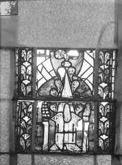 Eglise Saint-Gengoult et son cloître - Vitrail du transept nord, fenêtre B, 3ème lancette, panneaux au dessus 23, 24