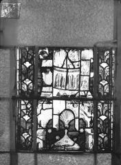 Eglise Saint-Gengoult et son cloître - Vitrail du transept nord, fenêtre B, 4ème lancette, panneaux au dessus 27, 28