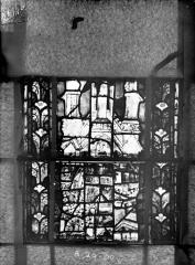 Eglise Saint-Gengoult et son cloître - Vitrail du transept nord, fenêtre B, 4ème lancette, panneaux au dessus 29, 30