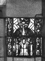 Eglise Saint-Gengoult et son cloître - Vitrail du transept nord, fenêtre B, 4ème lancette, panneaux au dessus 31, 32
