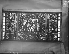 Eglise Saint-Gengoult et son cloître - Vitrail de l'abside, lancette gauche, panneaux supérieurs 2