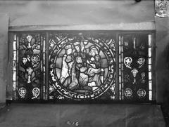 Eglise Saint-Gengoult et son cloître - Vitrail de l'abside, lancette de droite, panneau inférieur 17