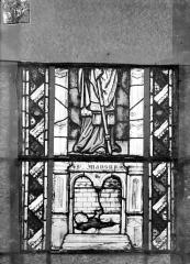 Eglise Saint-Gengoult et son cloître - Vitrail du transept sud, fenêtre A, 1ère lancette à gauche, panneaux inférieurs 1, 2