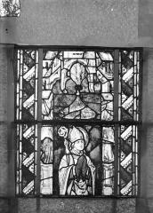 Eglise Saint-Gengoult et son cloître - Vitrail du transept sud, fenêtre A, 1ère lancette à gauche, panneaux inférieurs 3, 4