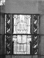Eglise Saint-Gengoult et son cloître - Vitrail du transept sud, fenêtre A, 1ère lancette à gauche, panneaux inférieurs 5, 6