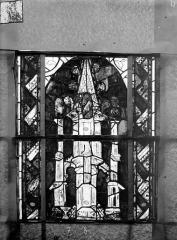 Eglise Saint-Gengoult et son cloître - Vitrail du transept sud, fenêtre A, 1ère lancette à gauche, panneaux inférieurs 7, 8