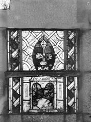 Eglise Saint-Gengoult et son cloître - Vitrail du transept sud, fenêtre A, 2ème lancette, panneaux supérieurs 9, 10
