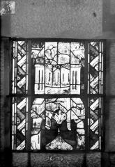 Eglise Saint-Gengoult et son cloître - Vitrail du transept sud, fenêtre A, 2ème lancette, panneaux supérieurs 13, 14