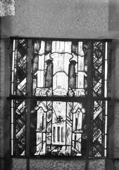 Eglise Saint-Gengoult et son cloître - Vitrail du transept sud, fenêtre A, 2ème lancette, panneaux supérieurs 15, 16