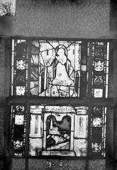 Eglise Saint-Gengoult et son cloître - Vitrail du transept sud, fenêtre A, 3ème lancette, panneaux 19 et 24