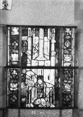 Eglise Saint-Gengoult et son cloître - Vitrail du transept sud, fenêtre A, 4ème lancette, panneaux 33, 34