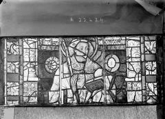 Ancienne cathédrale Saint-Etienne et son cloître - Vitrail du transept nord, fenêtre A, panneaux médians