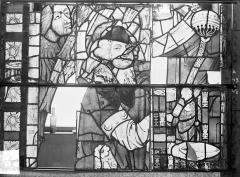 Ancienne cathédrale Saint-Etienne et son cloître - Vitrail du transept nord, fenêtre A, panneau médian