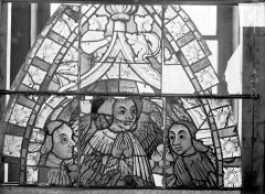 Ancienne cathédrale Saint-Etienne et son cloître - Vitrail du transept nord, fenêtre A, panneau supérieur