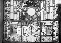 Ancienne cathédrale Saint-Etienne et son cloître - Vitrail du transept nord, fenêtre B, panneau inférieur