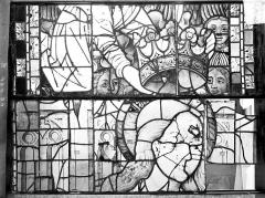 Ancienne cathédrale Saint-Etienne et son cloître - Vitrail du transept nord, fenêtre B, panneau médian