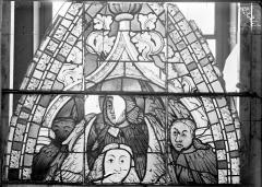 Ancienne cathédrale Saint-Etienne et son cloître - Vitrail du transept nord, fenêtre C, panneau supérieur