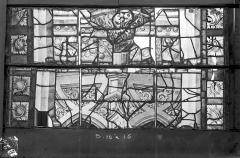 Ancienne cathédrale Saint-Etienne et son cloître - Vitrail du transept nord, fenêtre D, panneau médian du précédent