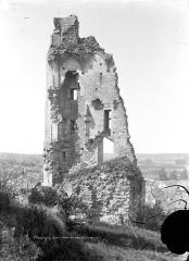 Château baronial ou des Evêques de Poitiers - Façade intérieure