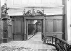 Ancien Hôpital Saint-Joseph - Chapelle Saint-Nicolas : Vue intérieure de la chapelle vers l'entrée